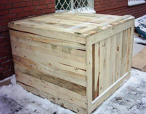 Ящик деревянный с крышкой
