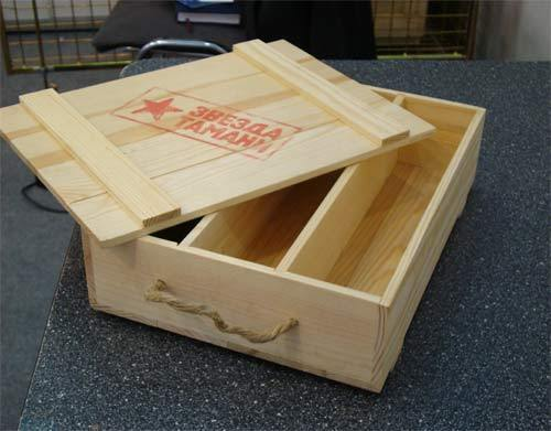 Ящик для вина открытый